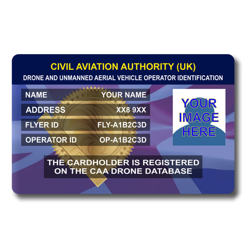 Drone Operator and Flyer ID card - Front