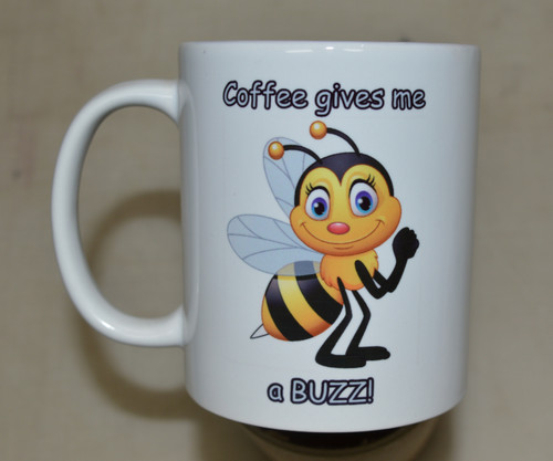 Cute bee - Coffee gives me a BUZZ!