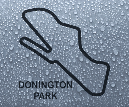 Donington Park - British race circuit vinyl decal sticker
