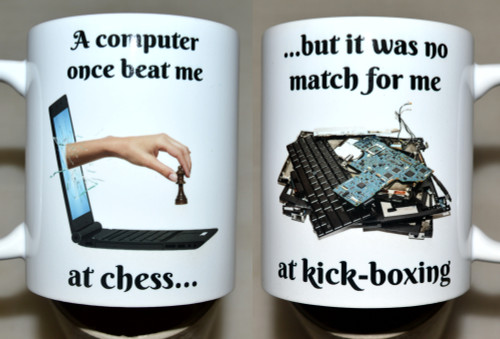 Humorous Computer chess - 11oz mug