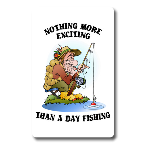 Funny fishing angler 12 month Calendar - Credit Card Size various start dates