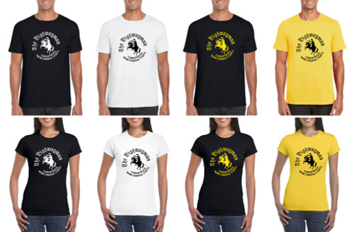 T-shirt - Highwayman - black, white & yellow