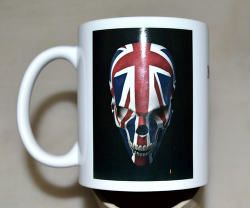 UK Union Jack skull - 11oz mug