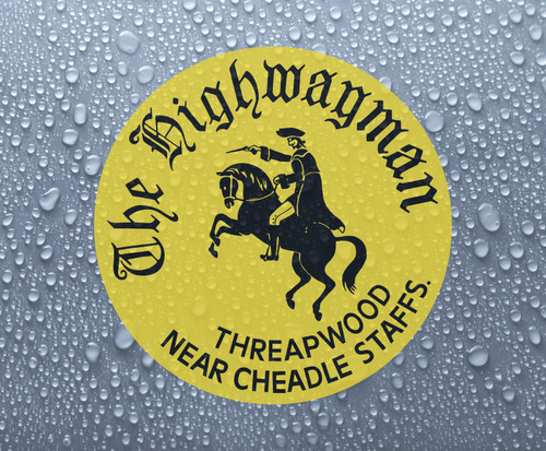 The Highwayman - full colour self-adhesive printed vinyl sticker