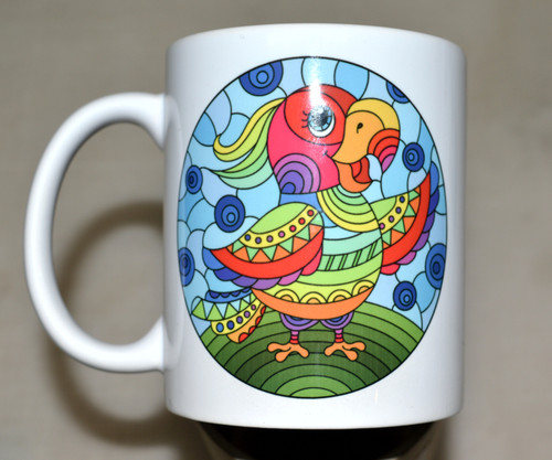 Colourful Parakeet - 11oz mug