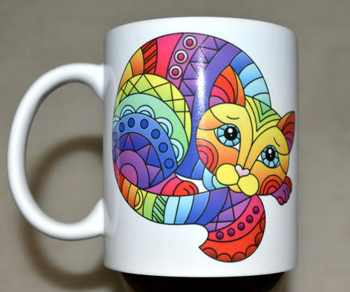 Colourful Cat - 11oz mug