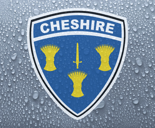 Cheshire county wheatsheaf shield