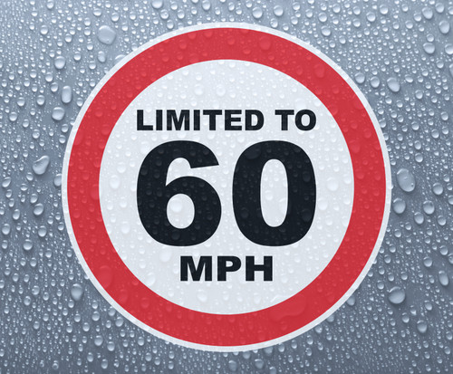 Speed Limited To 60 MPH - printed sticker