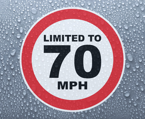 Speed Limited To 70 MPH - printed sticker