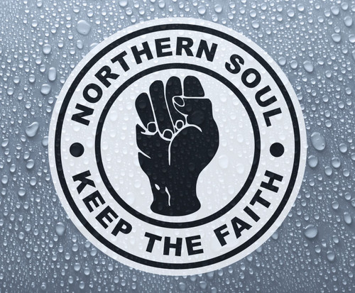 Northern Soul - Keep The Faith - self-adhesive printed vinyl sticker