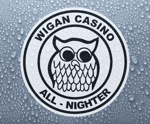 Northern Soul - Wigan Casino All-Nighter - self-adhesive printed vinyl sticker