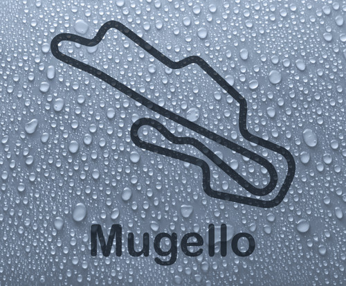 Mugello - Italian race circuit vinyl decal sticker
