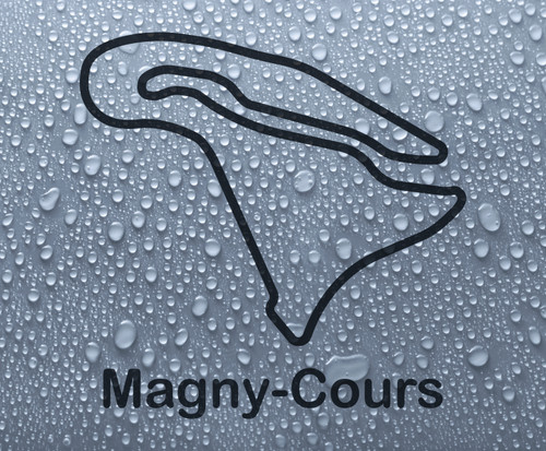 Magny-Cours - French race circuit vinyl decal sticker