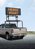 Solar Powered Vehicle Mount Silent Messenger Portable Changeable Message Board by SolarTech