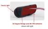 "Soundoff Side-view Mirror LED mPower Fascia Light-heads, 3"", single color 4-LED's per light head, Pair, Kit, Universal Mount"