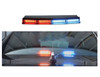 Code-3 WingMan™ Flex Series Interior Rear Dash Windshield Light Bar fits Charger, Impala, Ford Interceptor Sedan, Caprice, 4 head, 18 LEDs per head, MultiColor, WMFS