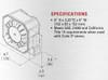 Code-3 C3500-U 100 watt cast aluminum speaker with universal mount bracket