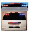 Code-3 Citadel™Rear Spoiler Light Bar (2000-2019 Chevy Suburban) MegaThin 12-LED Multi/Dual color lightheads, with flex controller for ArrowStik Functionality ULT6-DC-S