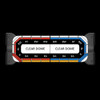 Federal Signal Allegiant Light Bar, 45 or 53 Inch Model, DUAL color light bar, includes full-flood takedowns and traffic advisor, Low-Profile