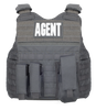 Armor Express ® Hard Core SU Men's Exterior Bulletproof Body Armor Vest, With reinforced carry handles and a Dynamic Cummerbund System with soft armor pockets-Vest only or Vest and Panels (Soft Armor), NIJ Certified - Level II, or Level IIIA Threat L