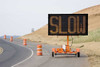 Wanco Full-Matrix Message Board Sign and Trailer, Graphic Display, Solar and Battery Powered WTMMB