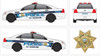 Chevy Caprice Police Vehicle Graphics Decal Kit 2157