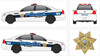 Chevy Caprice Police Vehicle Graphics Decal Kit 2164