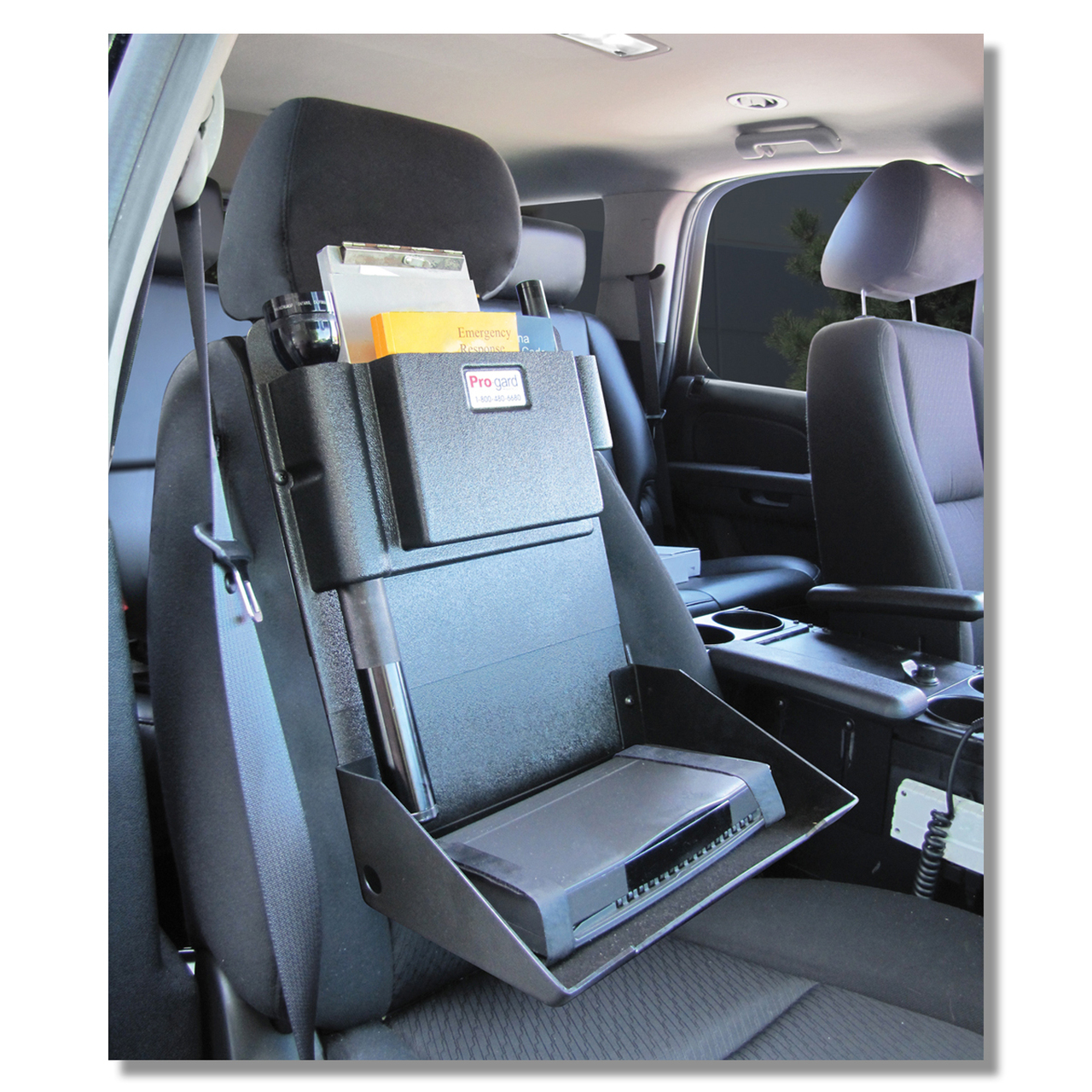 Seat Gear Organizer with Printer Holder for Police Vehicle Equipment D2951 by ProGard