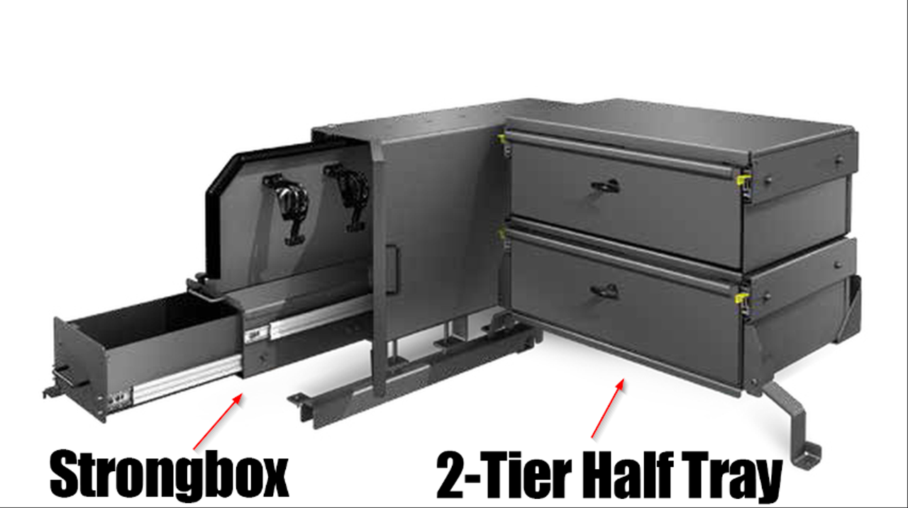 Setina Police SUV and Van Strongbox Cargo Storage System with Secure Sliding Firearms Drawer