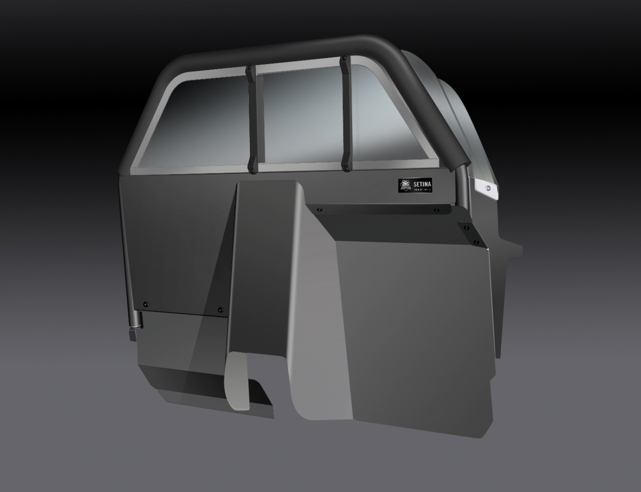 Setina Police Prisoner Partition Cage with Extra Legroom XL for Cars and SUVs, ideal for more front seat space and gun rack mounting