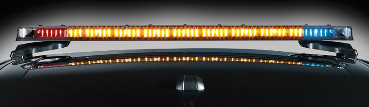 Federal Signal Integrity LED Light Bar, Dual Color, includes White Full-Flood and Amber Traffic Advisor, 51 or 44 inch