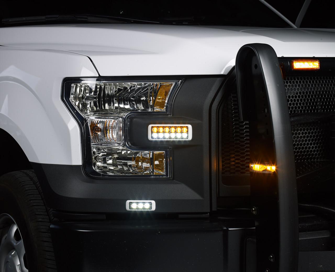 Federal Signal MicroPulse 6 LED Hood Grille or Flush Mount Light Head