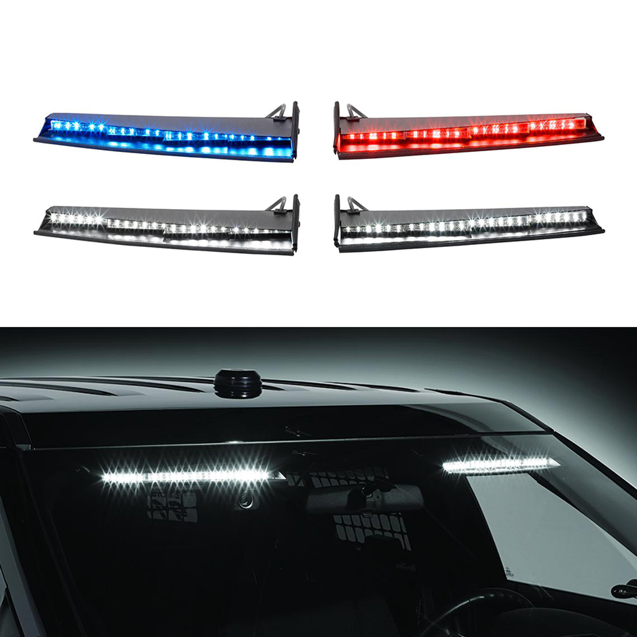 Federal Signal Ford SUV Police Interceptor Utility 2018-2019 Interior Light Bar Spectralux ILS Dual Color Low Profile, In Stock