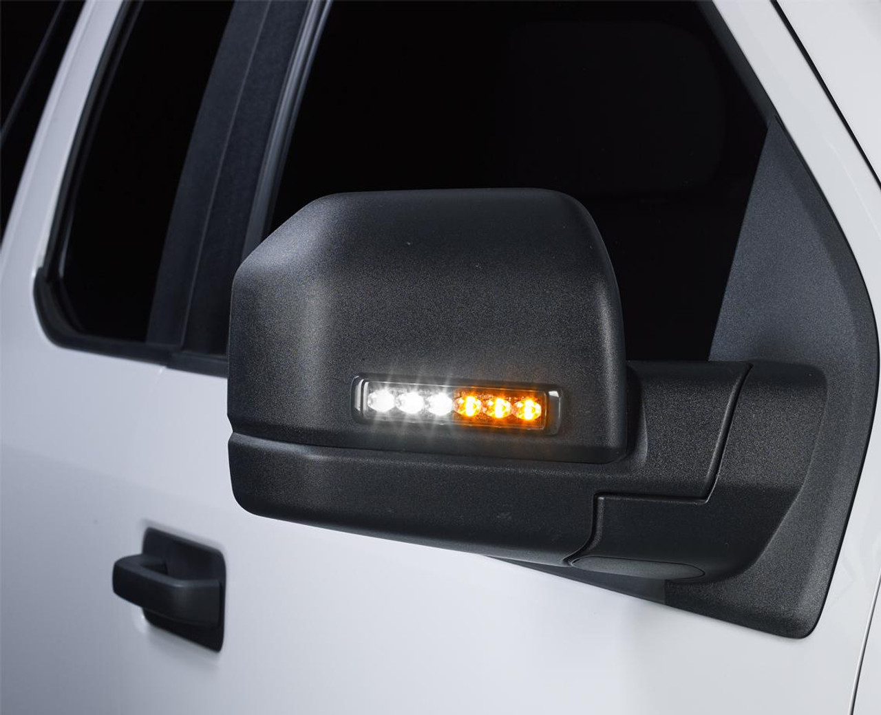 Federal Signal Side-View Mirror Mount Dual Color MicroPulse Ultra 6 LED Light Head, Pair, Universal