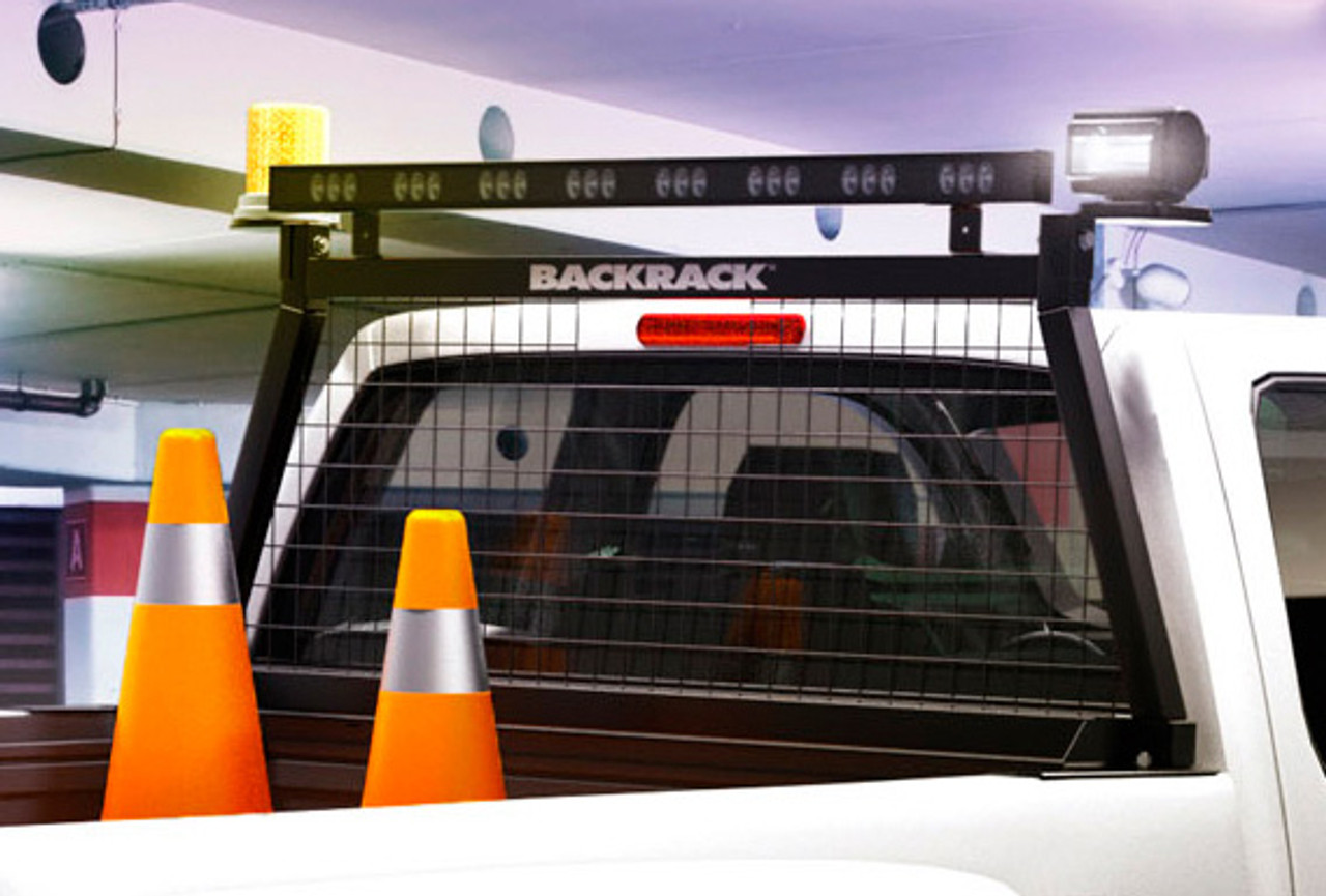 BACKRACK Safety Rack Truck Bed Equipment or Lighting Mounting Rack and Rear  Window Cargo Barrier, No Holes Drilled