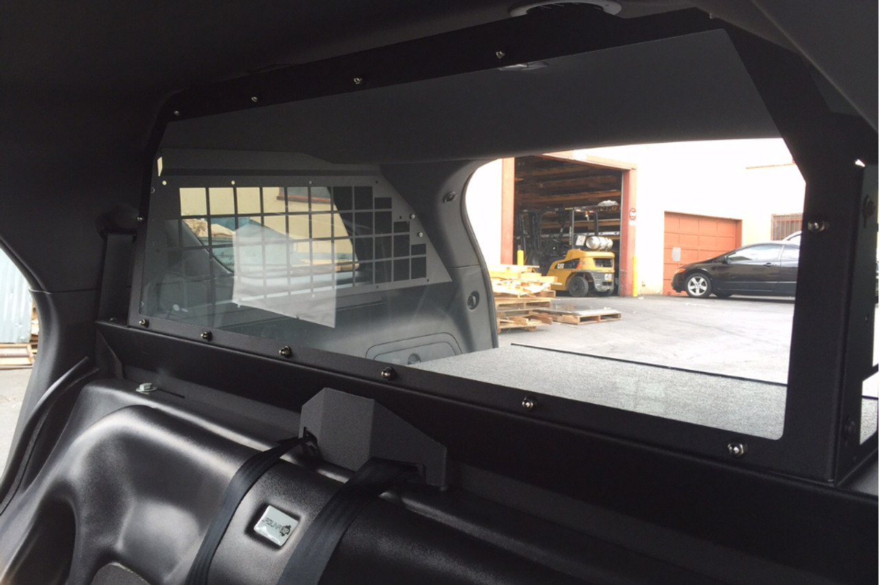 Troy Chevy Tahoe 2015+ SUV Rear Partition Cage, Cargo Barrier, covers side rear windows also