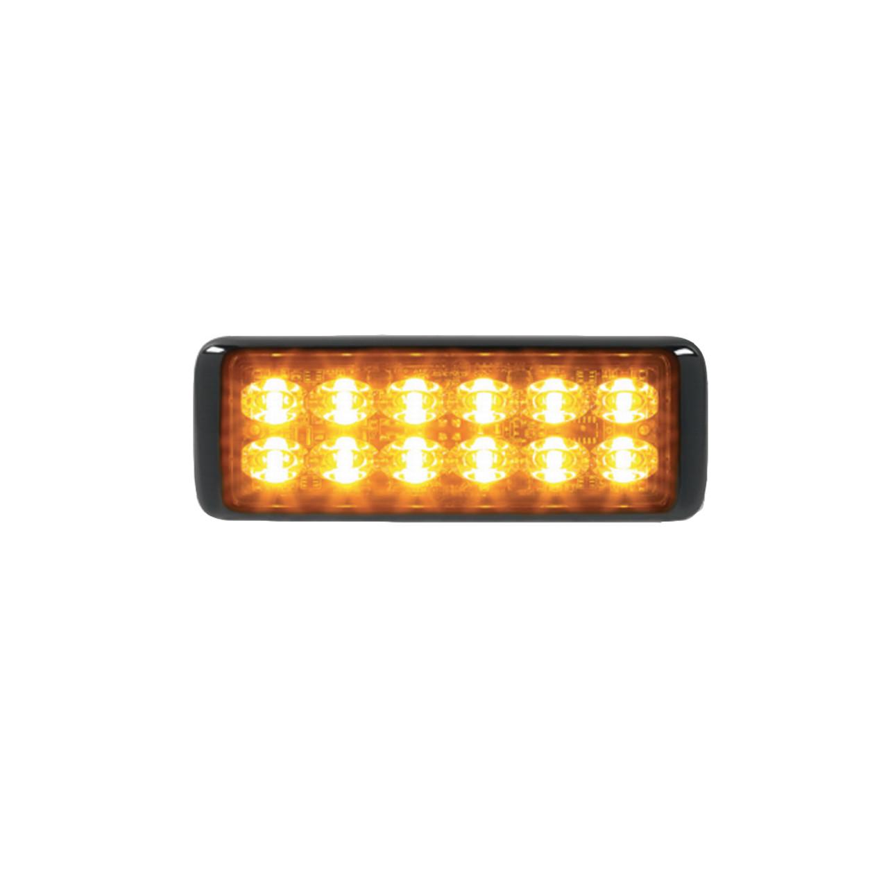 Federal Signal MicroPulse Ultra Thin 12 LED Surface Flush Mount Light Head, MPS1200U