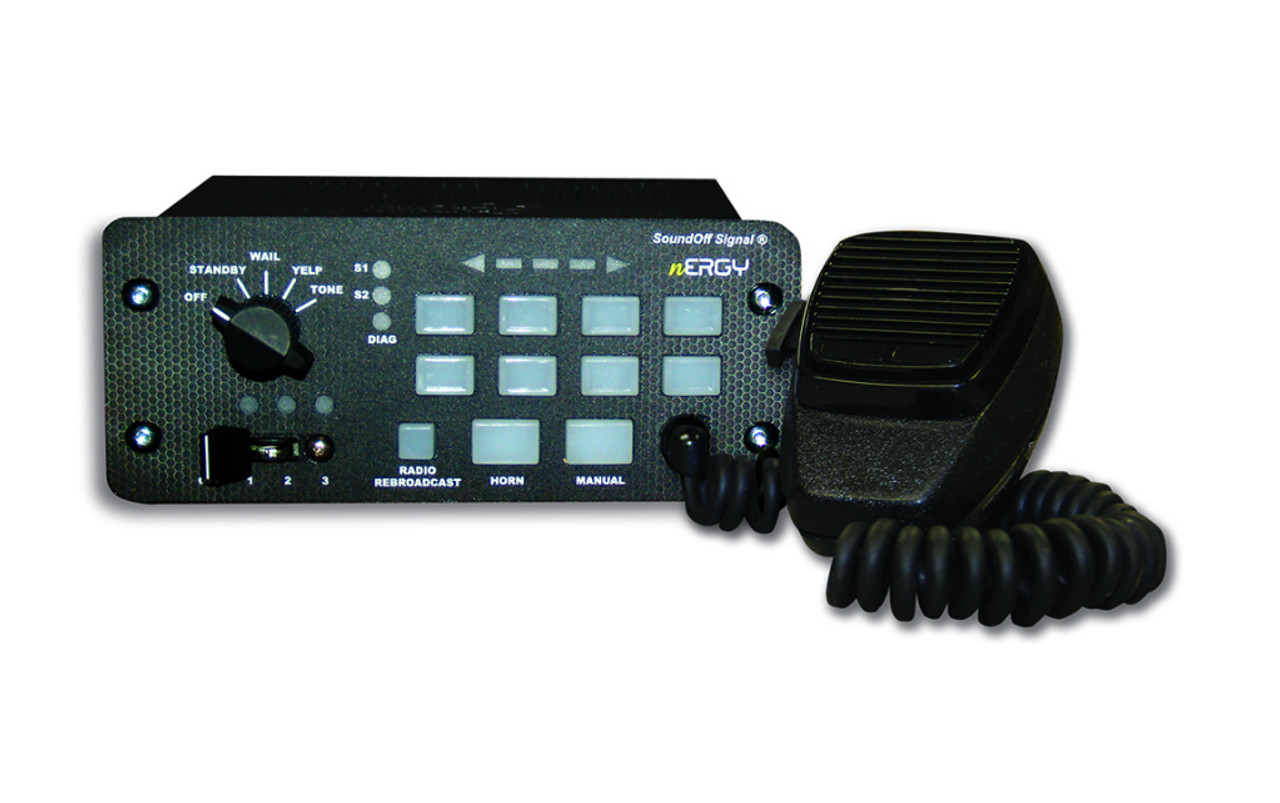 SoundOff nERGY 400 Console Siren and Light Controller with Knob, Buttons and Slide-switch  ETSA48-CSR