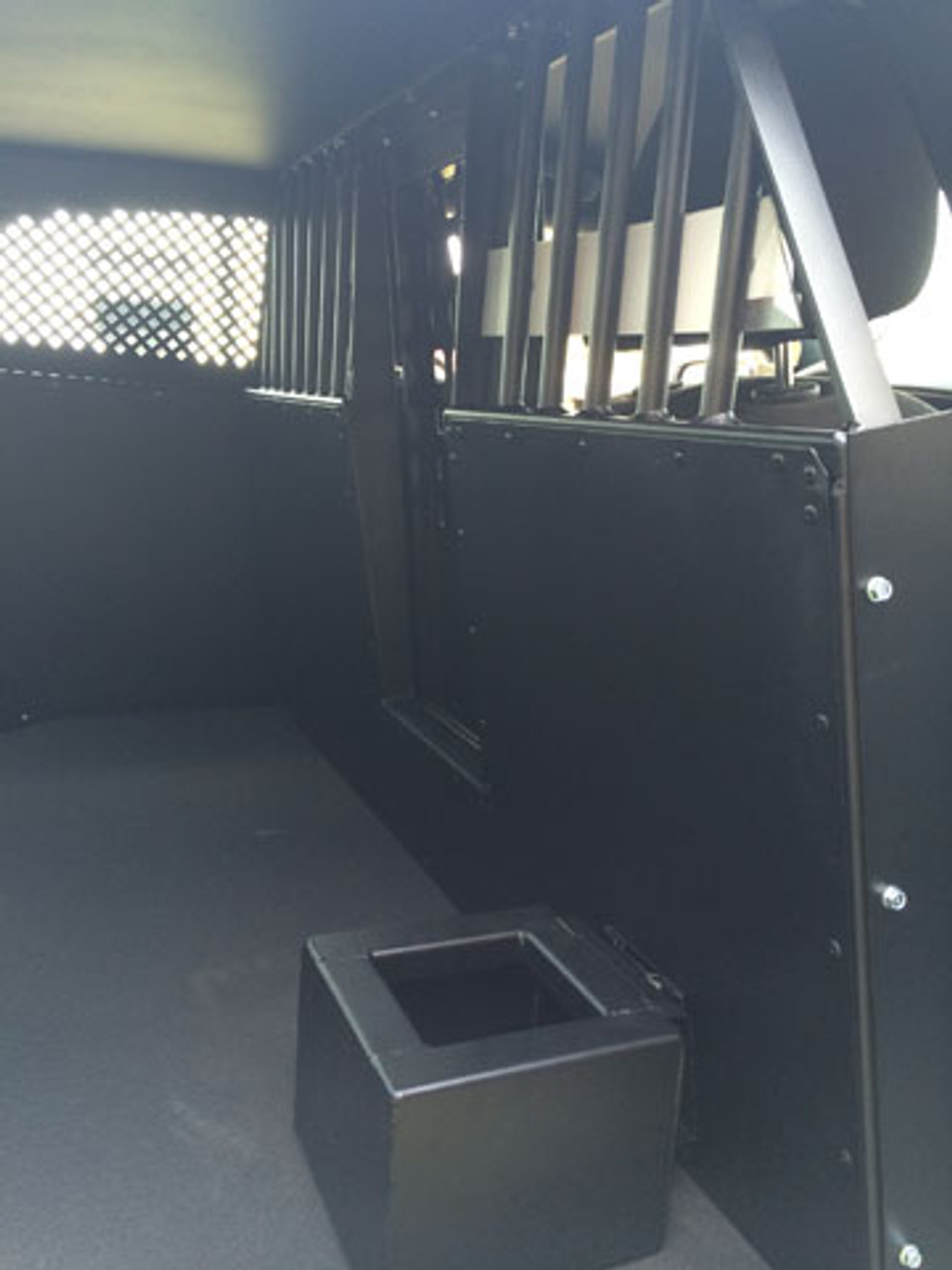 American Aluminum Dodge Charger EZ Rider K9 Police Car Dog Kennel Transport Insert System and Cargo Containment Unit, Black or Aluminum Finish