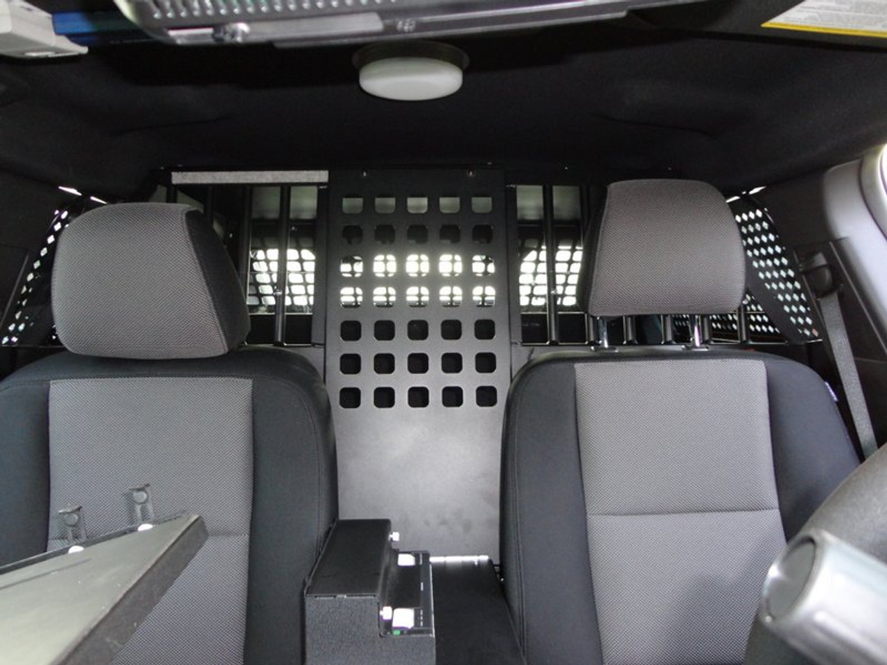 American Aluminum Ford Interceptor Utility SUV EZ Rider K9 Police Vehicle Kennel Transport System, Insert, Black or Aluminum Finish, includes rubber mat, door panels, and window guards, 2013-2019