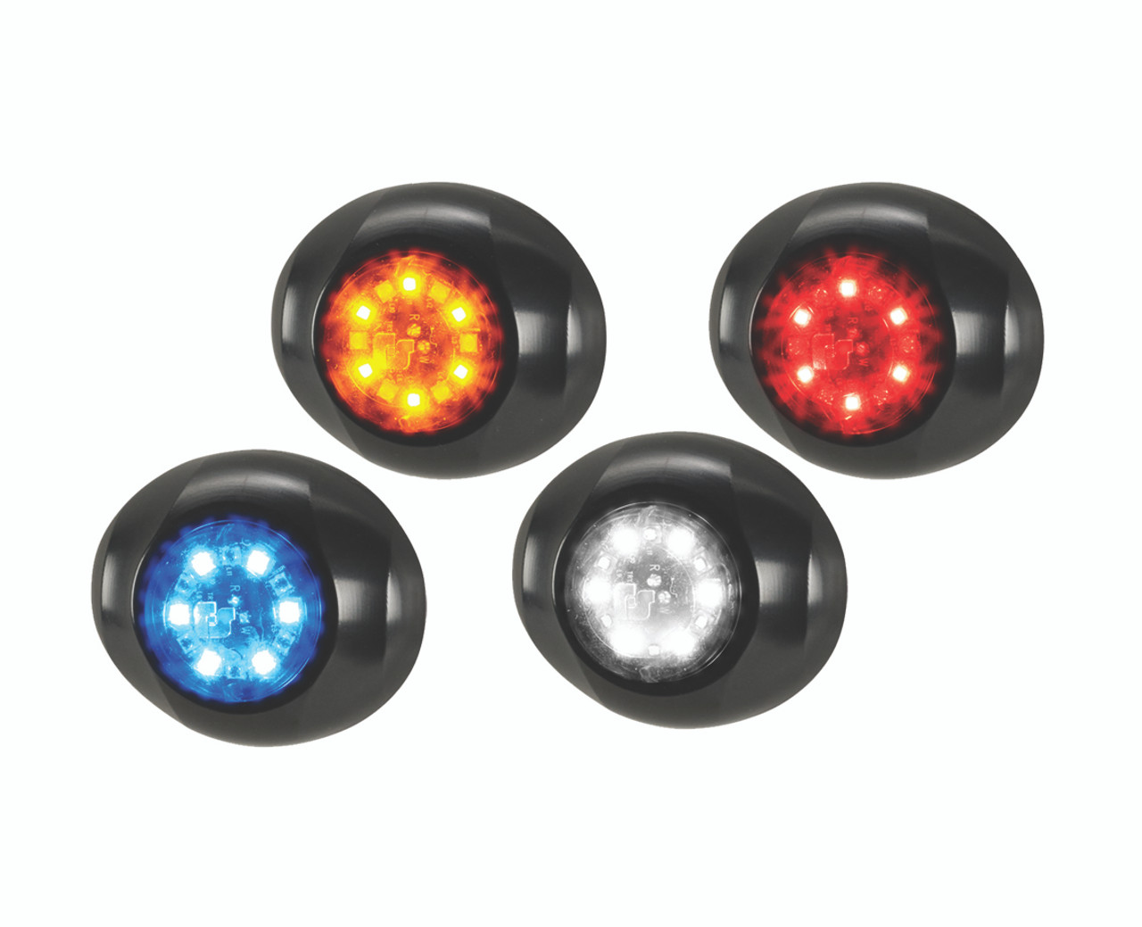Federal Signal Head-light Tail-Light Corner LED System 416900, two color option, includes surface mount flange, 12 LED per head, sold as 1
