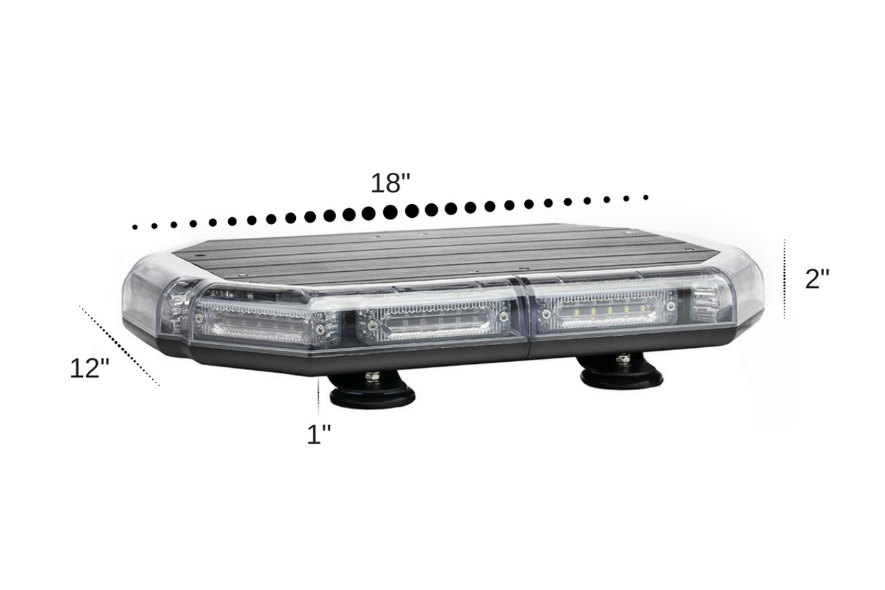 Emergency Vehicle LED Mini Light Bar by SpeedTech Lights, K-Force Series, 18 or 27 inches, Polycarbonate Plastic and Aluminum Chassis