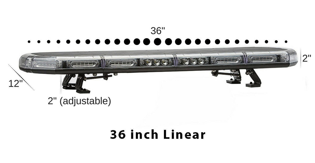 Emergency and Police Vehicle LED Light Bar by SpeedTech Lights, K-Force Series, 36 47 or 55 inch, Plastic and Aluminum Chassis, Linear or TIR LEDs