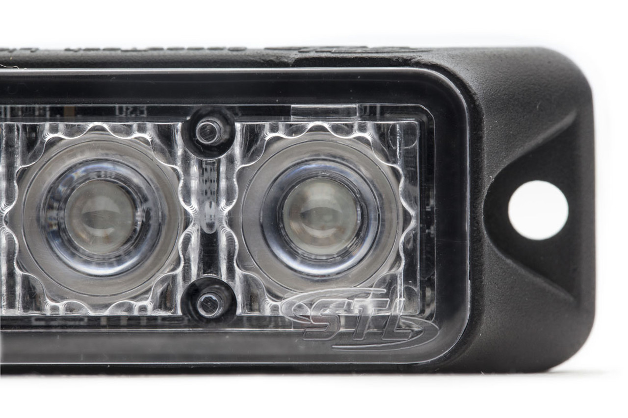 Emergency and Police Vehicle 4-LED Ultra Thin Flush Surface Mount Light Head Z-4 by SpeedTech Lights, Linear Style LEDs, 5 year warranty