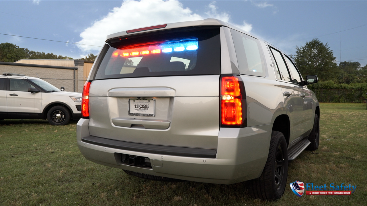 New 2018 4x4 Silver Tahoe PPV Slick-Top Admin with Red-Blue LEDs Ready for the Road Turnkey Pre-built Police Package,  Optional Prisoner Transport Equipment, Free Delivery, 4WD, V8