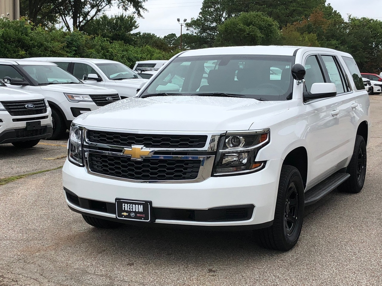 New 2019 Chevy Tahoe Police Package V8 2WD ready to be built as a Marked Patrol Package, choose any color LED Lights, + Delivery