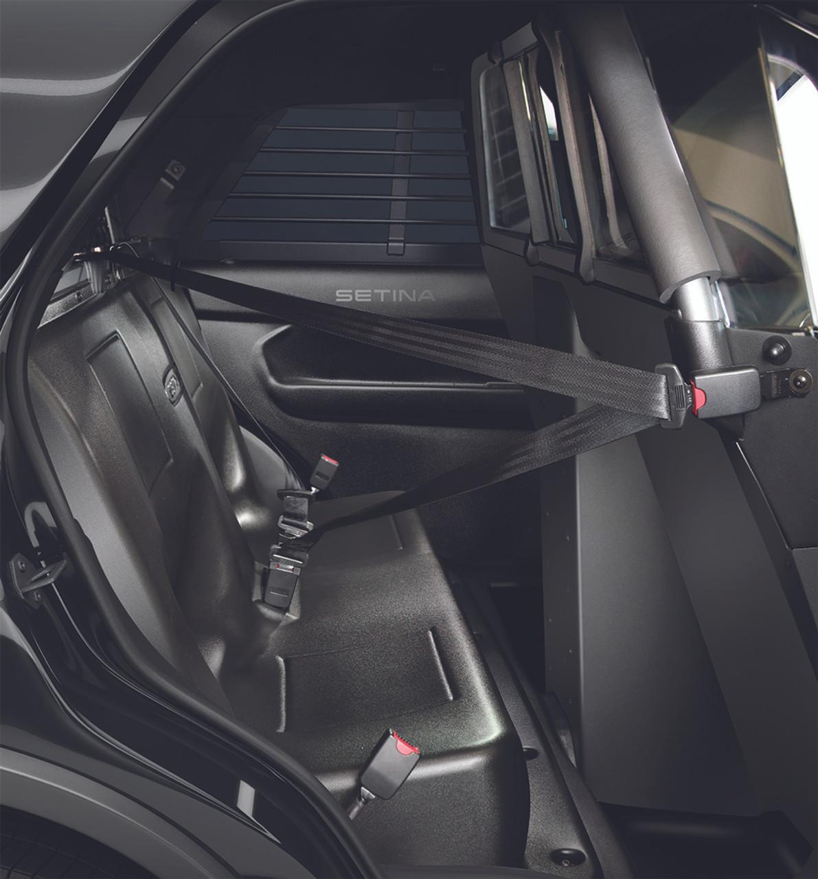 Setina Ford Interceptor SUV Utility (Explorer) 2013-2019 & 2020 Police  Prisoner Transport Rear Plastic Seat (OEM Replacement) includes Easy Access
