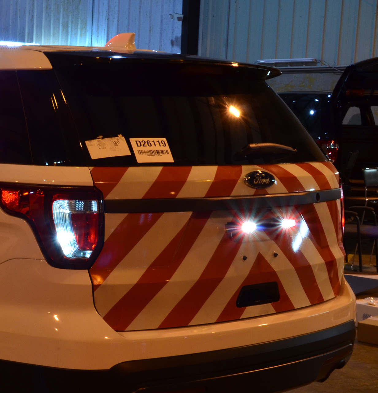 Ford Police Interceptor Utility SUV (Explorer) Chevron Emergency Vehicle Graphics with 3M Reflective Stripes, choose colors