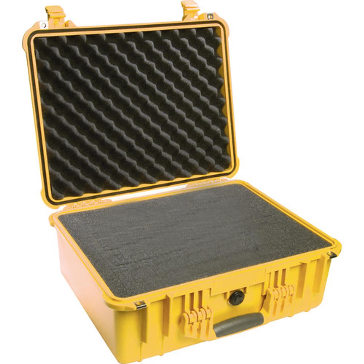 Pelican 1550 Protector - Medium Case - Waterproof, Crushproof, Rustproof, Hard Case with Optional Foam Inserts, Padded Divider or TrekPak Divider System, 21 x 19 x 19, 27 lbs (24 lbs w-out foam insert)