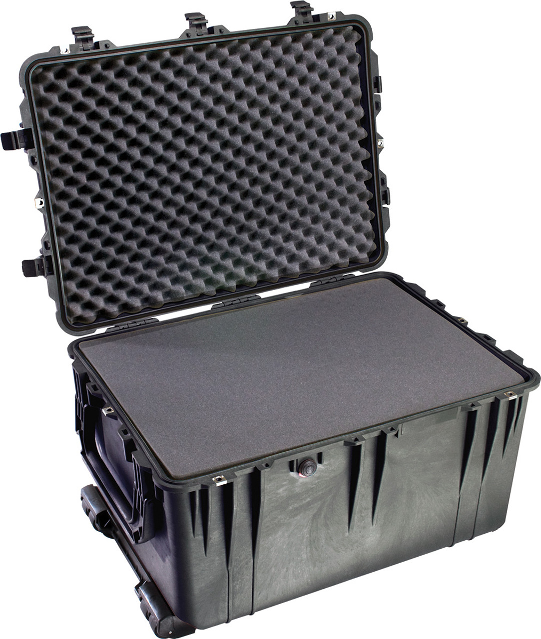 Pelican 1660 Protector - Large Transport Case with Wheels and Retractable extension handle, with Optional Foam Insert or Optional Padded Divider, Available in Black, OD Green or Desert Tan, 32x24x20, 44 lbs (w-out foam, 37 lbs) (WD, 45 lbs)